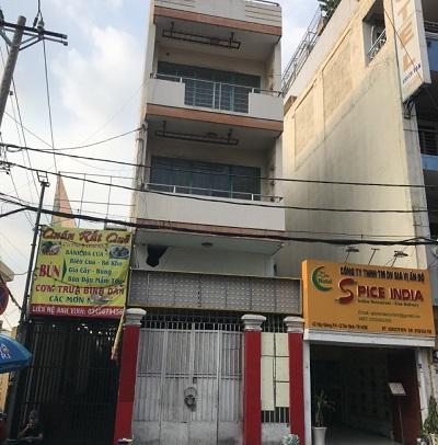 Cho thuê nhà mặt tiền đường Hậu Giang phường 4 tân bình
