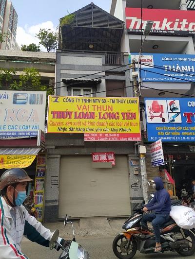Cho thuê nhà mặt tiền đường Phạm Phú Thứ, Phường 11, Quận Tân Bình