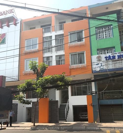 Cho thuê nhà mặt tiền đường Phổ Quang diện tích 10x20m 1 hầm 1 trệt 3 lầu