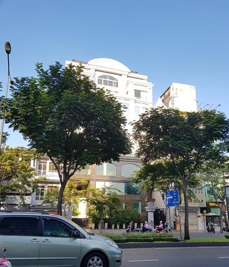 Cho thuê nhà mặt tiền đường Trường Sơn quận Tân Bình, diện tích 17x18m 1 hầm 1 triệt 7 lầu