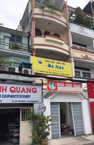 Cho thuê nhà mặt tiền nguyên căn đường Nguyễn Cửu Vân quận Bình Thạnh