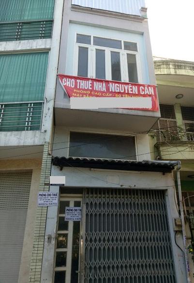 Thuê nhà mặt tiền đường Trường Sa Quận Tân Bình  3.2x18m. 1 trệt 3 lầu