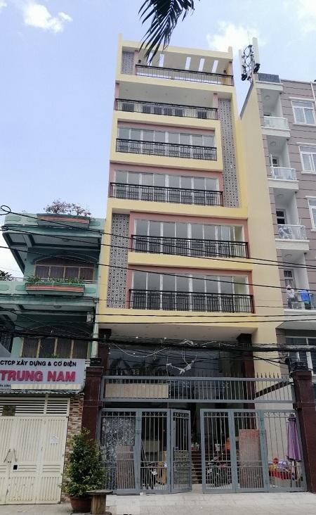 Mặt tiền đường Bạch Đằng quận Tân Bình 1 hầm 6 lầu 8x27m2